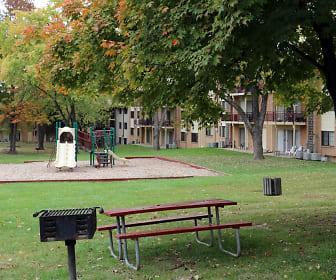 view of home's community with an expansive lawn, Laurel Park & Laurelton Court