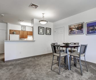 Dining Room, Oak Hill Apartments