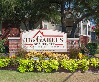 Community Signage, The Gables of McKinney Apartments