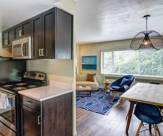 Kitchen, Vue Apartments