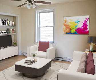 Living Room, King's Manor Apartments