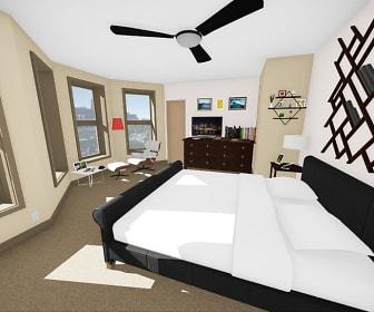 Bedroom, 616 Niagara Apartments