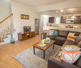 Living Room, The Cottages at San Marcos - PER BED LEASE