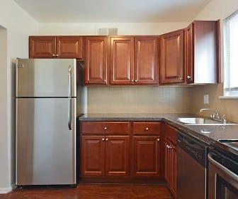Kitchen, Chateau Apartments