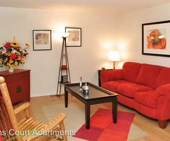 Living Room, Lions Court Apartments:  1200 Thompson Road