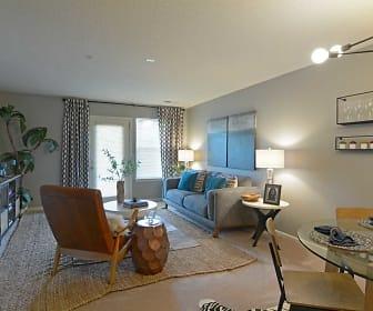 Living Room, The Vinings At Iron Bridge