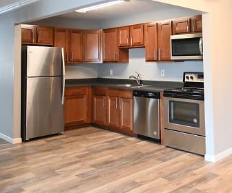 Kitchen, Nob Hill Apartments