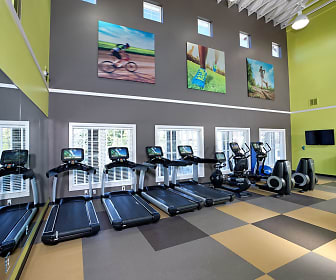 workout area with tile flooring, plenty of natural light, and TV, Bexley Steelecroft
