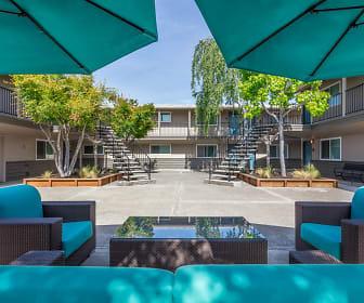 Courtyard, Mosaic Apartments