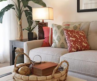 Living Room, Oak Park Apartments