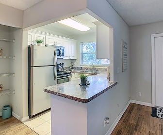 Kitchens with stainless steel appliances are available to rent., Boca Winds