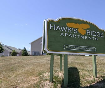 Community Signage, Hawk's Ridge Apartments