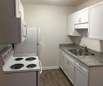 Kitchen, Oakwood Apartments