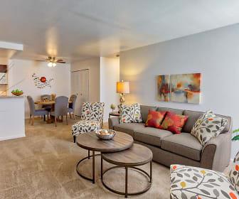 Living Room, Silver Creek Apartments