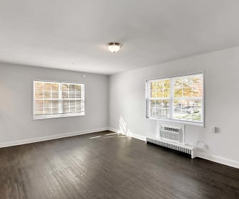 empty room with parquet floors and plenty of natural light, Laurel Court