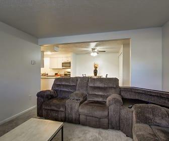 Living Room, Pine Grove Apartments