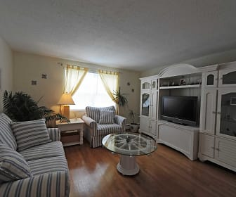 Living Room, Admiral Pointe Apartments