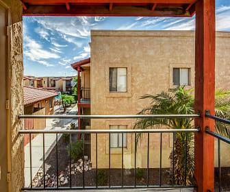 Patio / Deck, The Palms Apartments