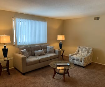 Living Room, Superior Place Apartments