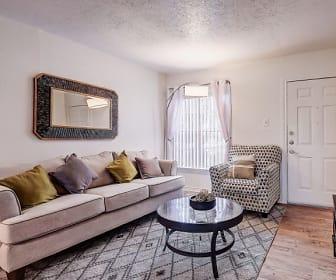 Living Room, Hillburn Hills Apartments