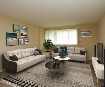 Living Room, Boulder Court Apartments