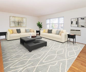 Living Room, Duncan Hill Apartments & Townhomes