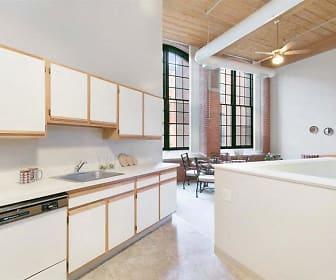 Kitchen, Clocktower Mill Apartments