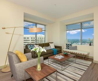 living room featuring hardwood flooring and plenty of natural light, Hartford 21
