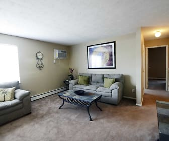 Living Room, Deer Creek Apartments