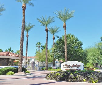 view of community sign, San Montego Luxury Apartments