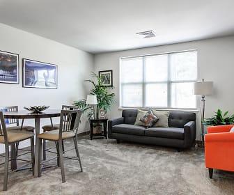 Living Room, Oak Hill Apartments