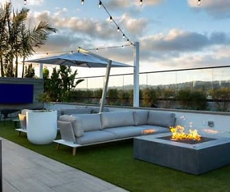 view of patio with fire pit, Avalon Brea Place