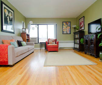 Living Room, Amber Square Apartments and Townhomes