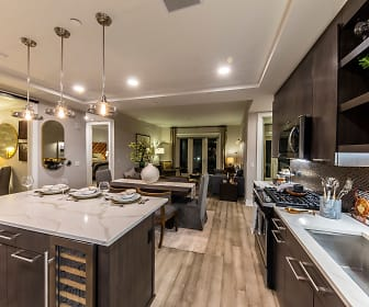 Model Kitchen, Dining, and Living Room, Gables Residences