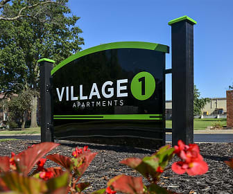 Community Signage, Village 1 Apartments