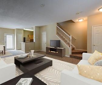 Living Room, Falls Creek Apartments & Townhomes