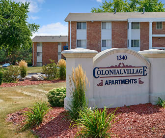 Colonial Village, Dowling Catholic High School, West Des Moines, IA