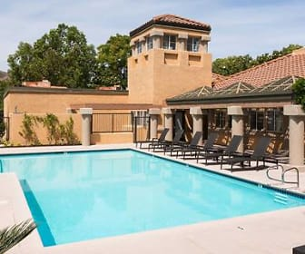 view of pool, eaves Phillips Ranch