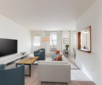 Living Room, Laurelton Village Apartments