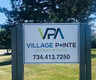 Community Signage, Village Pointe Apartments