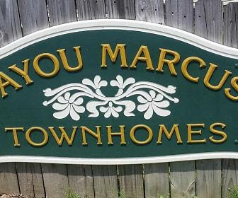 Community Signage, Bayou Marcus Townhomes