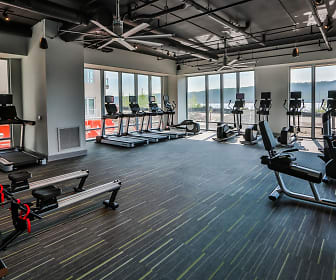 Fitness Weight Room, Apex Hudson Riverfront