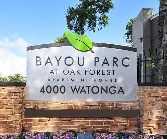 Community Signage, Bayou Parc at Oak Forest