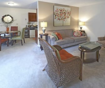 Living Room, Heather Glen Townhomes