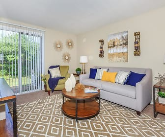 Living Room, 860 East Apartments & Townhomes