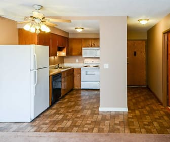 Kitchen, Mankato Tower Apartments