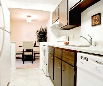 Kitchen, The Village on Beavercreek Apartments