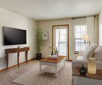 Living Room, Town Center Apartments