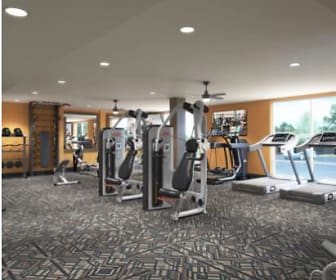 Fitness Weight Room, Aspen Heights Wichita
