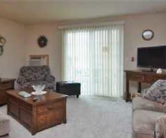 Living Room, Deerfield Village Apartments